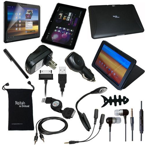 DigitalsOnDemand 15-Item Accessory Bundle for New Samsung Galaxy Tab 10.1 Wi-Fi / 3G 4G LTE 16GB 32GB