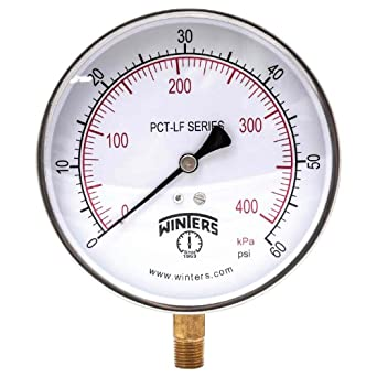 winters pct322lf pct lf series pressure gauge 4 5 dial. Black Bedroom Furniture Sets. Home Design Ideas