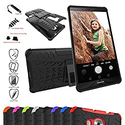 Huawei Mate 8 Case,Mama Mouth Shockproof Heavy Duty Combo Hybrid Rugged Dual Layer Grip Cover with Kickstand For Huawei Mate 8 Smartphone(With 4 in 1 Free Gift Packaged),Black