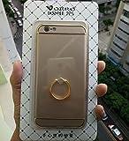 iphone 6 iphone 6s ケース,LWGON スタンドリング付き 360°専用 ケース 耐衝撃 3パーツ式 アイフォン6s iPhone6 ケース カメラ保護 アイフォンケース(ring ゴールド) [並行輸入品]