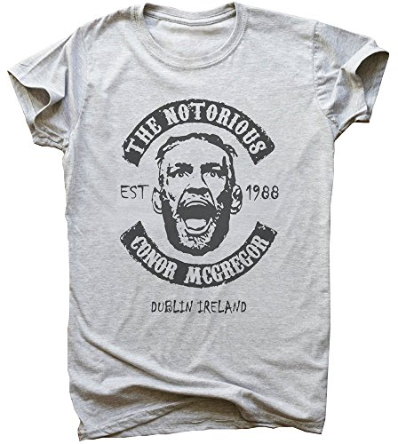 The Notorious Conor Mcgregor Dublin Ireland EST. 1988 Artwork Men's T-Shirt Medium