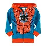 Marvel Little Boys' Spiderman Full Zip Hoodie Jacket