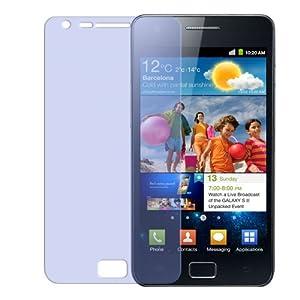 10x kristallklare Displayschutzfolie für Samsung Galaxy S II (i9100) / S-2 S2 GT-I9100 - Displayschutz ultraclear inkl. Rakel und Reinigungstuch