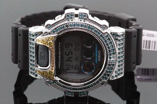 Mens Diamond Digital G Shock Watch 4ctw