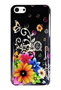 Graphic Case for iPhone 5C - Chromatic Flower (Package include a HandHelditems Sketch Stylus Pen)