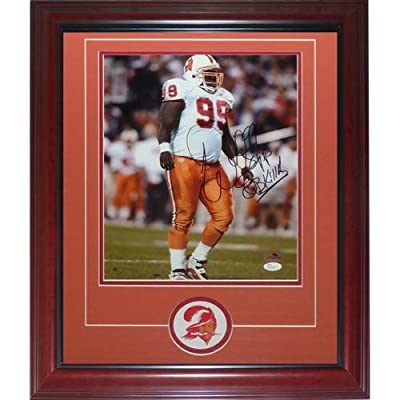 "Warren Sapp Autographed Tampa Bay Buccaneers (Throwback) Deluxe Framed 11x14 Photo with Patch ""QB Killa"" - JSA"