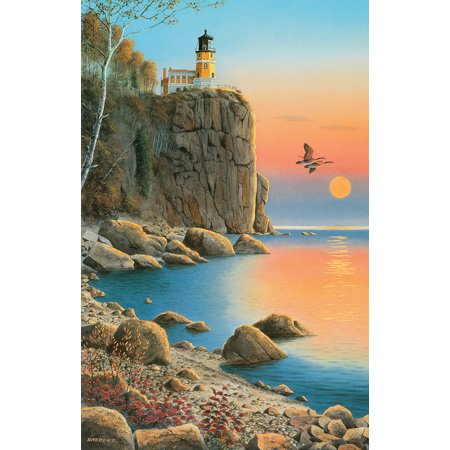 Picture of SunsOut Jerry Raedeke Split Rock Lighthouse 1000pc Jigsaw Puzzle (B001YK3QZ6) (Jigsaw Puzzles)