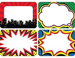 Teacher Created Resources Superhero Name Tags/Labels, Multi-Pack (5587)
