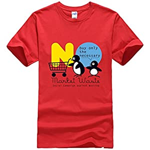 HEATHER CONWAY Mens T-shirts Penguin Red Size L
