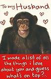 To My Husband Valentine's Day card