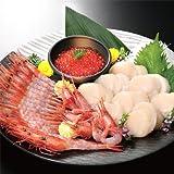 【最高級 北海道】生南蛮(甘エビ)200gと、生ホタテ貝柱 200g.、いくら醤油漬け 100gの海鮮会席 セット!