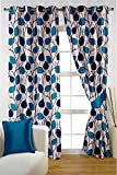 PVR Fashion 4 Piece Polyester Door Curtain - 7 Feet, Blue