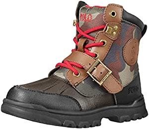 Polo Ralph Lauren Kids Colbey Boot Boot (Toddler/Little Kid/Big Kid),Chocolate/Army Camouflage,2.5 M US Little Kid