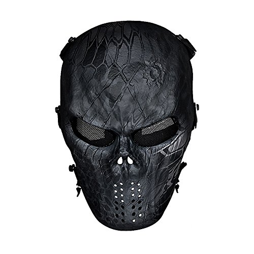 OutdoorMaster Airsoft Mask, Full Face with Metal Mesh Eye Protection (Typhoone)