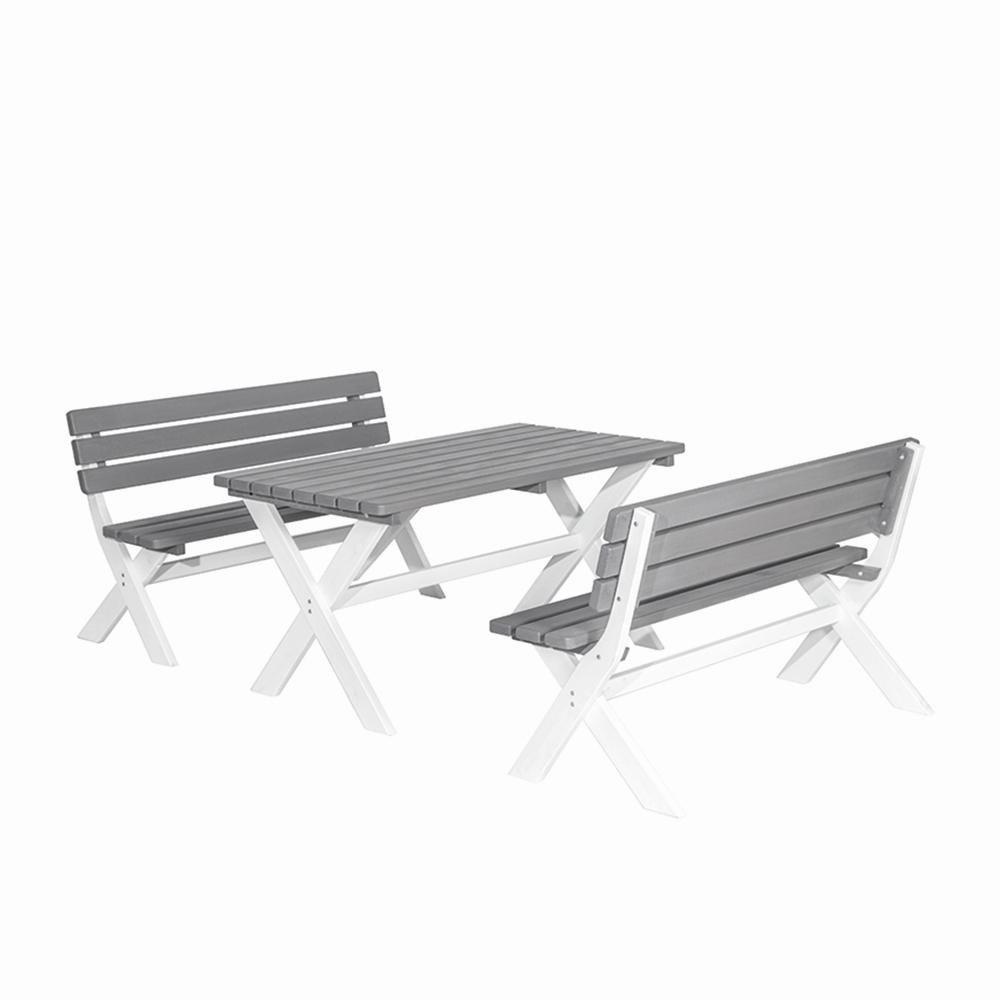 H.G. 987170 Duo Color Tisch Kiefernholz, 150 x 80 cm, weiß / grau kaufen