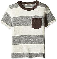 Fox Baby Boys' T-Shirt (Dark Melange_6 -12 M_327606)