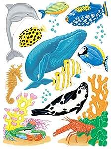 Sea Creatures Window Clings