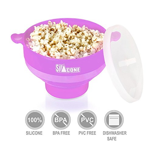 Silicone Microwave Popcorn Popper BPA free Popcorn Maker 2 Minutes To Pop With or Without Oil (Oven Popcorn compare prices)