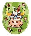 Design WC Sitz Klodeckel Toilettendeckel Holzkern Crazy Cow