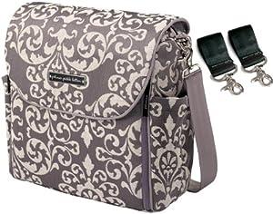 Petunia Pickle Bottom Earl Grey Boxy Backpack + Valet Stroller Clips by Petunia Pickle Bottom