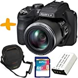 Bundle Fuji SL1000 Digital Bridge Camera +Case +Spare Battery +8GB Class 10 SDHC Memory Card (Fujifilm Finepix SL1000 Black 16.2MP 50x Optical Zoom Tilting 3