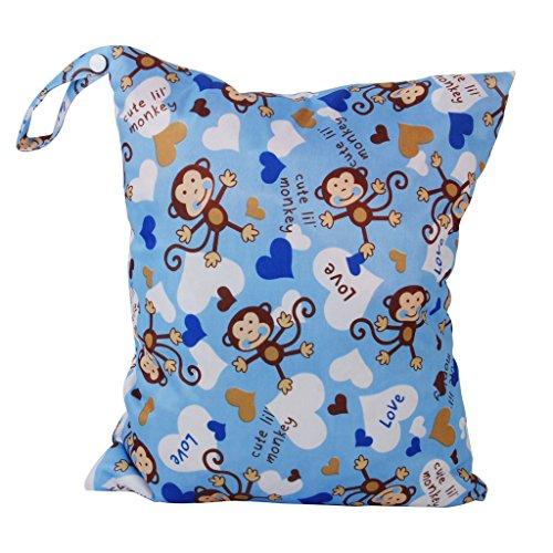 Sacchetto Del Pannolino Lavabile Riutilizzabile Del Panno Del Bambino Pannolini Borsa Impermeabile Con Due Zip