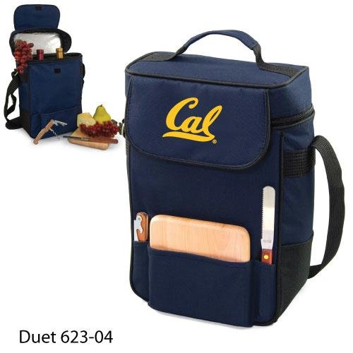 Ncaa California Golden Bears Duet Insulated Wine And Cheese Tote With Team Logo