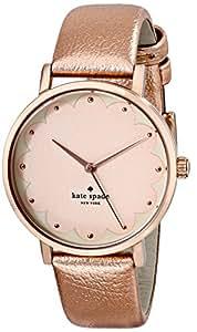 kate spade new york Women's 1YRU0498 Metro Analog Display Japanese Quartz Rose Gold Watch