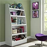 Altra Furniture Kids Bookcase with 4 Shelves, White Finish
