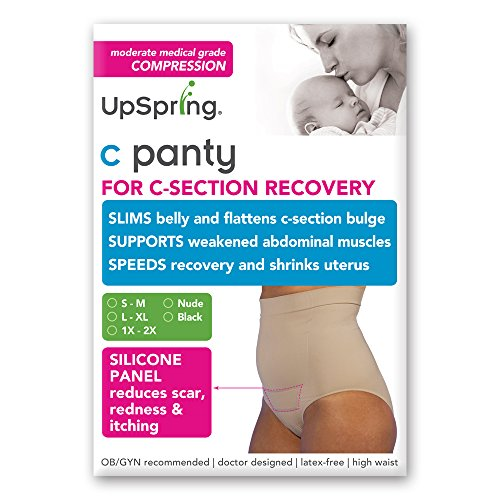 C-Panty High Waist C-Section Recovery & Slimming Underwear (1X/2X, Nude)