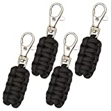 Paracord Zipper Pulls 4 Pack - Variety of Colors | Metal Hook Thin Enough To Attach To Almost Any Zipper
