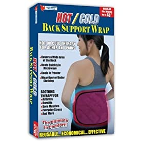 Milex Hot/Cold Back Support Therapy Relief aches and Pains Heatable and Cools in Freezer