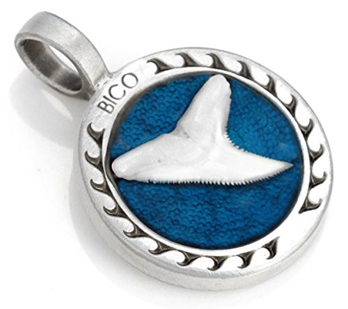Bico Shark'S Tooth Pendant  - strength and stamina - Coloured Resin and Metal