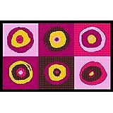 """Fu�matte waschbar Teppichl�ufer Sergej pink 75x120 cmvon """"Kleentex"""""""