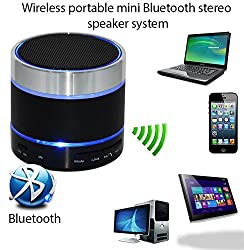 Samsung Galaxy Ace J1 COMPATIBLE Mini Bluetooth Wireless Speaker (S10)/Portable Audio Player Play FM Radio, audio from TF card and Auxiliary input - Multicolor