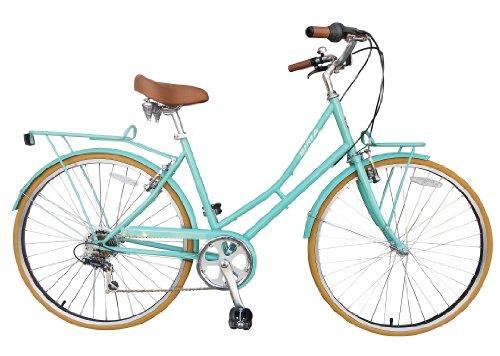 City Bike , Commuting bicycle 700C , Celeste Green , 44CM, Women's by Biria