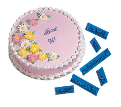 Wilton Letter Press Sets Script Message Decorating Cake ...