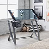 Studio Designs Studio Designs Futura Advanced Drafting Table with Side Shelf, Steel