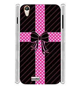 Cute Bow Soft Silicon Rubberized Back Case Cover for Xolo A1010