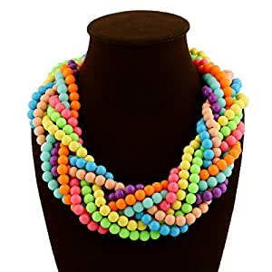 : Lukso :TY101 Summer Colorful Beads Collar Colares Necklace Collares