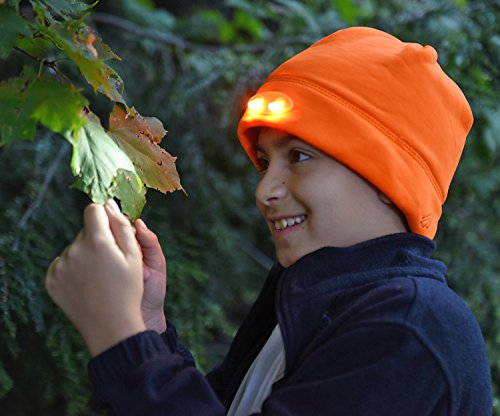 Panther Vision Headlamp 4 Led Warm Beanie Cap Hands Free
