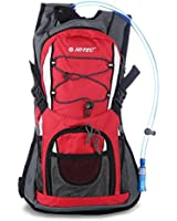 Hi-Tec 2 Litre Hydration Backpack Bag Running Cycling Pack With Water Bladder