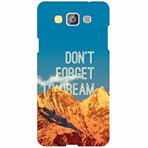Samsung Galaxy Grand Max SM-G7200 Back Cover - Don'T Forget Designer Cases