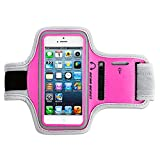 [Lifetime Hassle-Free Warranty] Gear Beast Deluxe Sports Armband for Apple iPhone 5 & iPhone 5s & iPhone 5c & iPod Touch [5th Gen] & Apple iPhone 4 & iPhone 4s & Samsung Galaxy S4 MINI & Galaxy S3 MINI & More [Without a Case] (Pink/Grey) Reviews