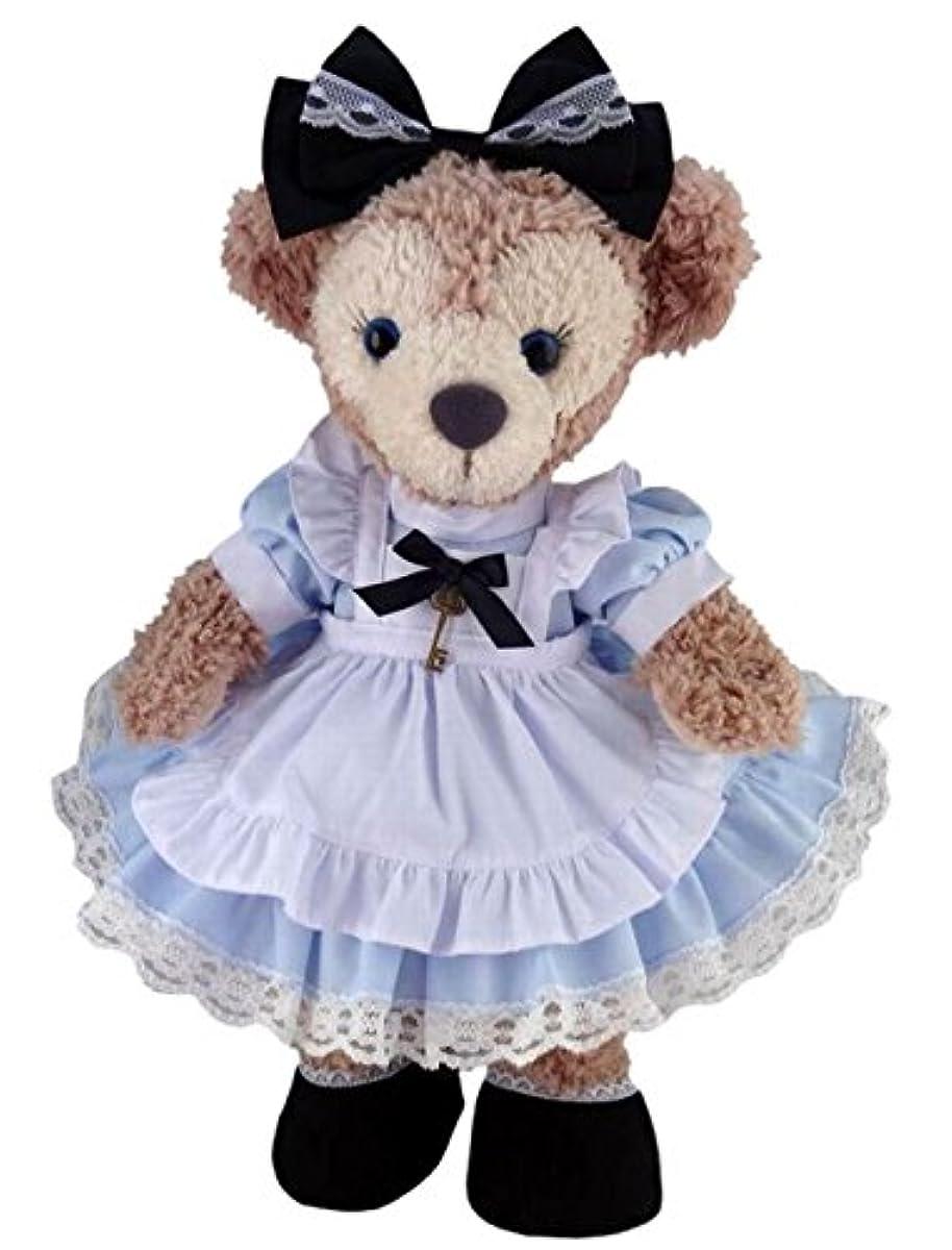 [해외] 테디 베어 통판 앨리스 셸리 메이 옷 코스튬 (이상한 나라의 앨리스 NO.1 하늘색 본체무)-