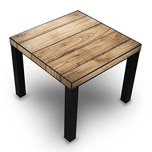 banjado-Design-Wohnzimmer-Tisch-55x45x55cm-Beistelltisch-schwarz-mit-Motiv-Holzplanken