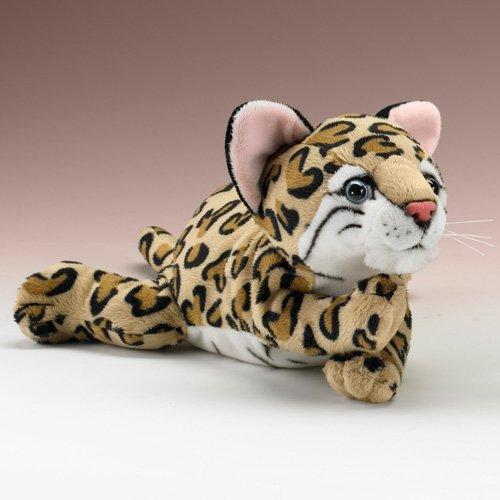 "Lying Ocelot Stuffed Animal Plush Toy 14"" L front-808969"