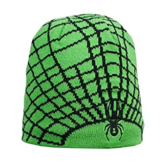 Spyder Mini Web Hat Classic Green Black OS -Kids