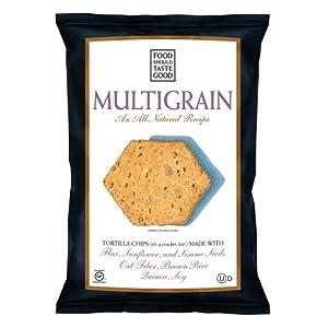 Food Should Taste Good Tortilla Chips, Multigrain, 5.5 Ounce (Pack of 12)