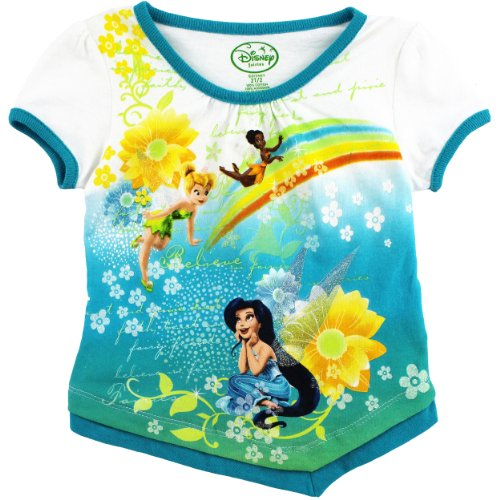 Tinkerbell Girls 2T-6X Turquoise Top 18627077